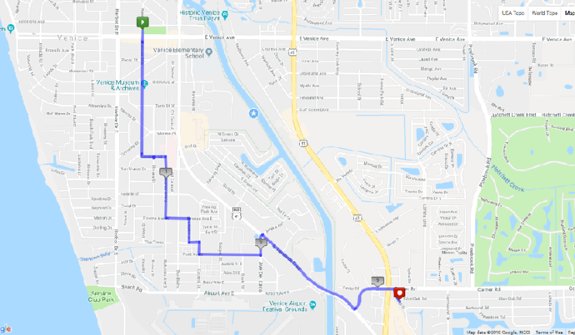 All American Road March Route